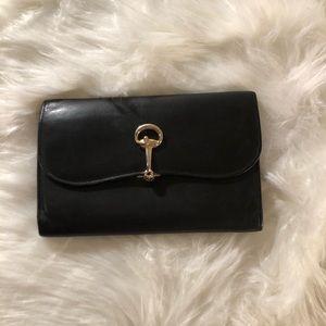 Vintage Gucci Black Leather large wallet